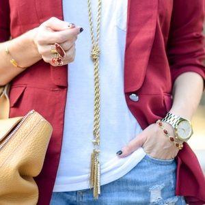 BaubleBar Gold Tassel Necklace